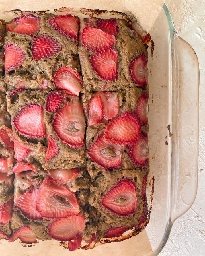 Buckwheat Strawberry Cake