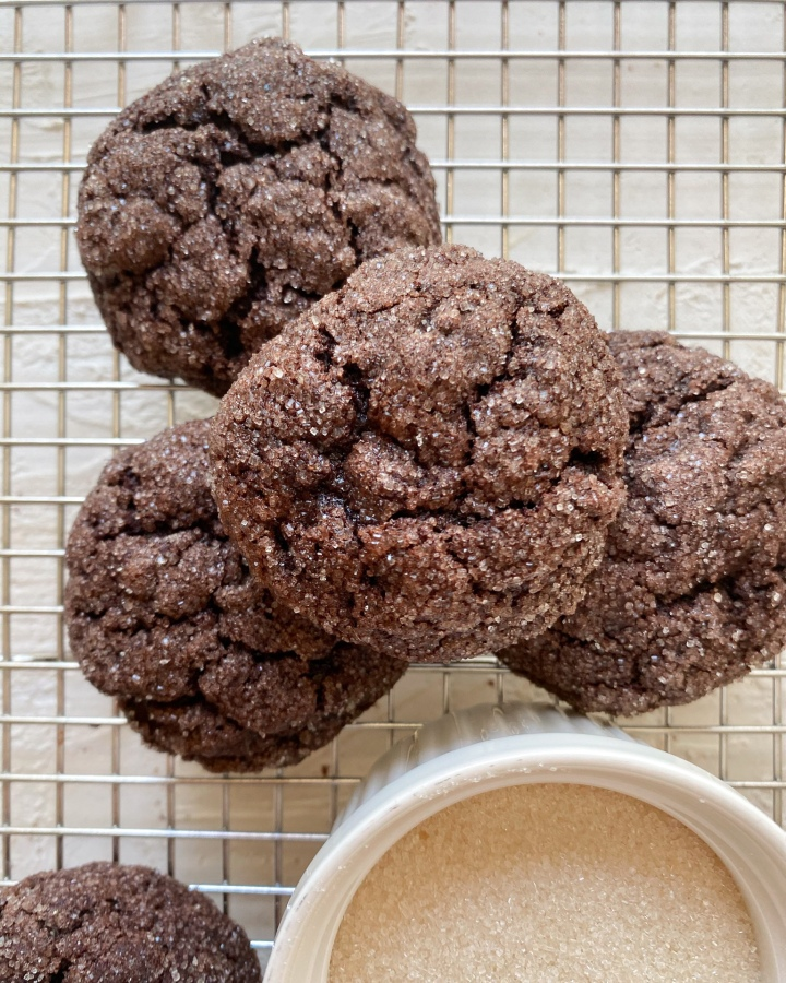 Sugar Coated ChocolateCookies
