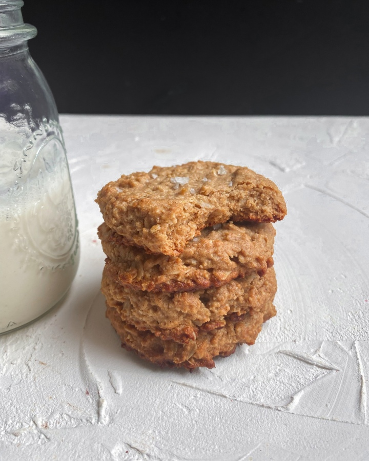 Salted Peanut Butter OatmealCookies